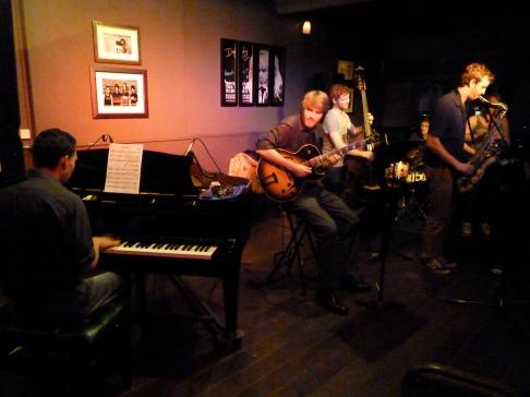 The Alex Corlett Sextet at Dempsey's: Alex Corlett (guitar) Jessica Bullen (alto sax) Nick Jordan (tenor sax) James Golborn (piano) Deej Williams (bass) Rod Oughton (drums)