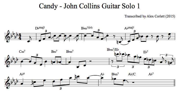 John Collins Candy Solo 1