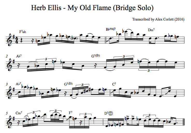 Herb Ellis - My Old Flame Solo