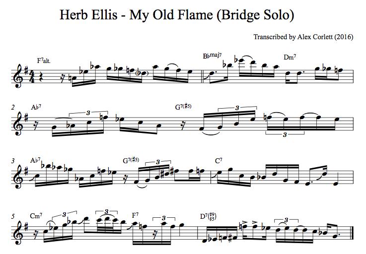 Herb Ellis - My Old Flame Solo