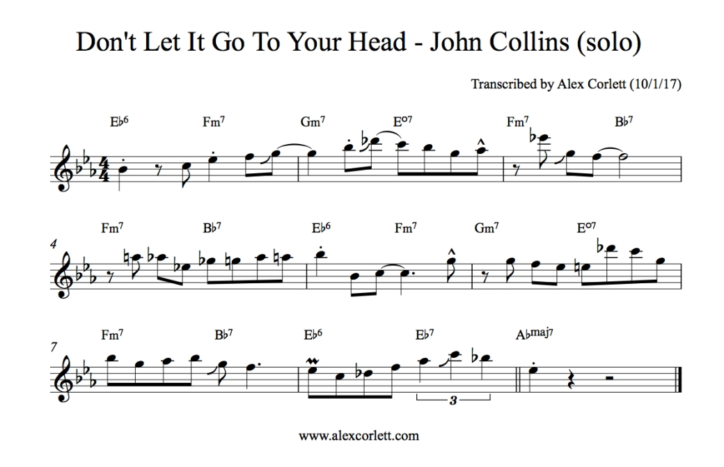 John Collins - Don't Let it Go To Your Head
